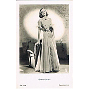 Greta Garbo Glamor Vintage Photo by Ross