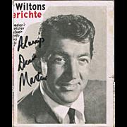 Dean Martin Autograph CoA