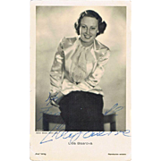 Lida Baarova Autograph: Early Signature on Ross Photo. CoA