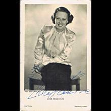 Lida Baarova Autograph: Early Signature on Ross Photo. CoA