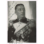 Earl Luckner Postcard with Autograph from 1942 Seeteufel