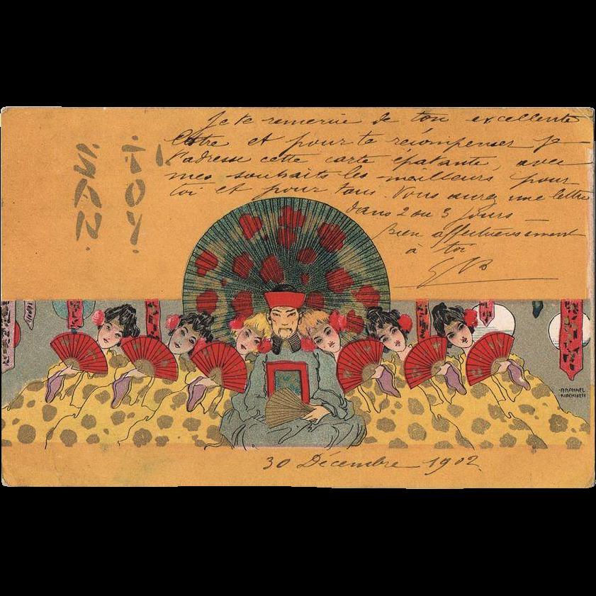 Raphael Kirchner Postcard Santoy I from 1902