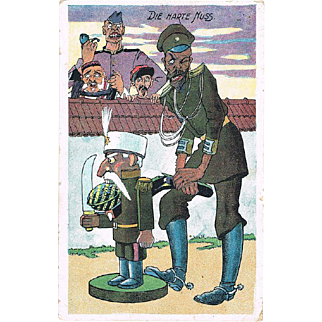 Tsar Nicholas Mocking Postcard from 1917