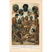 Australian Peoples Lithograph from 1900
