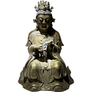 Old Chinese Buddhist Bronze