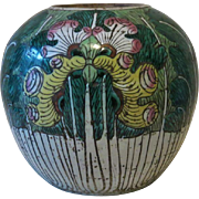 Attractive old Chinese Ginger Pot with Iris Design