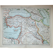 Western Asia Two Antique  Maps from 1900