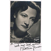 Kathleen Ferrier Autograph on Portrait Photo CoA