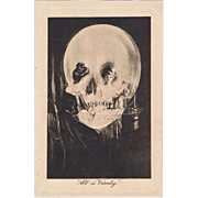 Memento Mori Postcard All is Vanity