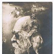 Memento Mori Postcard Die Wacht am Rhein