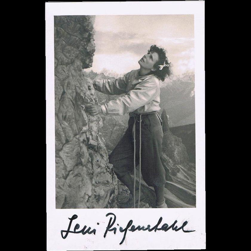 Desireable Leni Riefenstahl Autograph CoA