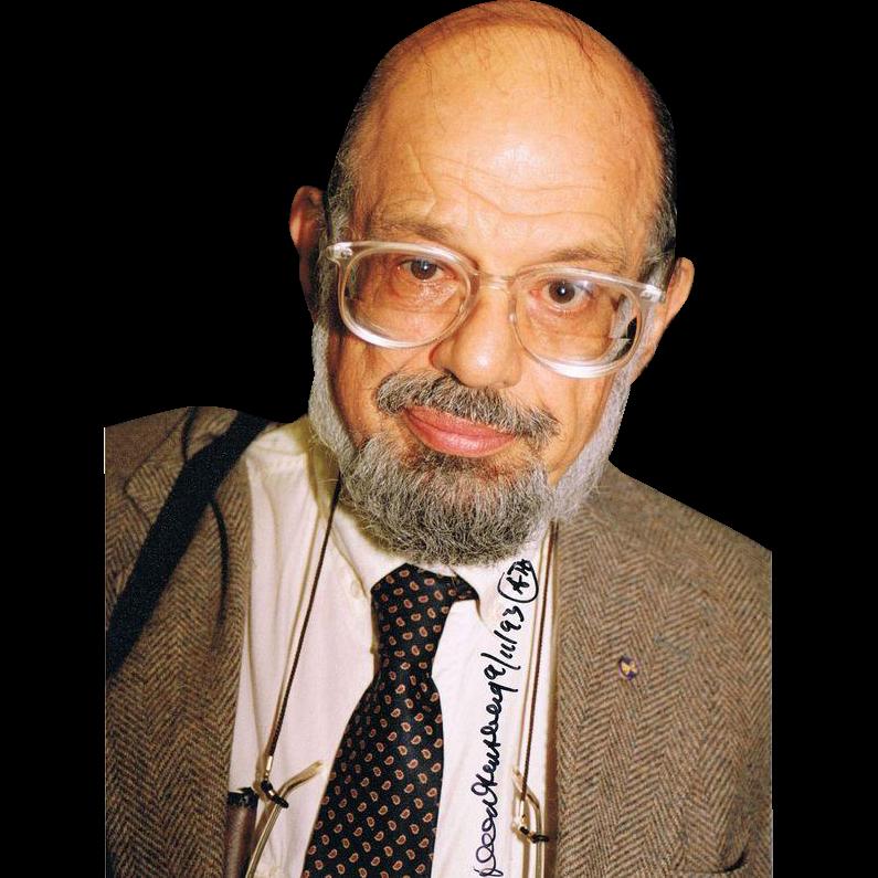 Allen Ginsberg Autograph Signed Photo CoA