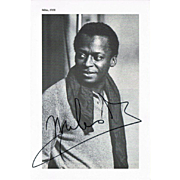 Miles Davis Autograph on 1958 Photo Print CoA