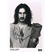 Frank Zappa Autograph Signed Photo CoA + Autograph of his Daughter Moon Zappa