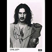 Frank Zappa Autograph Signed Photo CoA + Autograph of his Daughter Moon Zappa