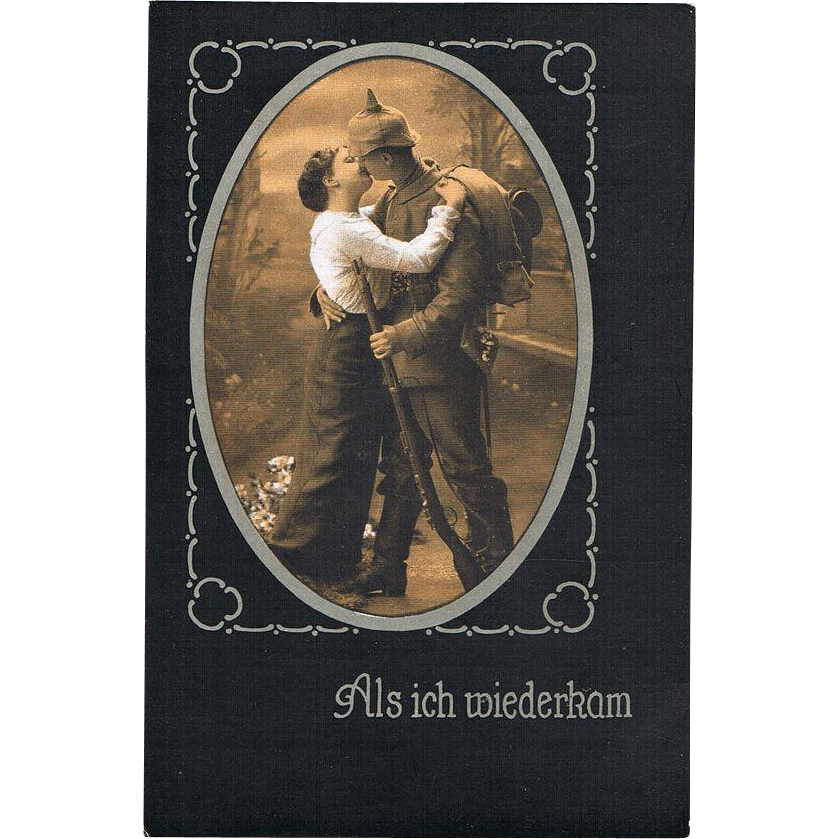 World War One Postcard When I returned Home