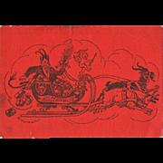 Three old Krampus Postcards