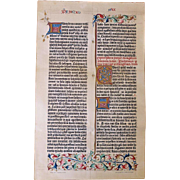 Gutenberg Bible Facsimile Page from 1898