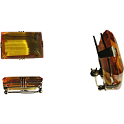 Art Deco Amber Brooch