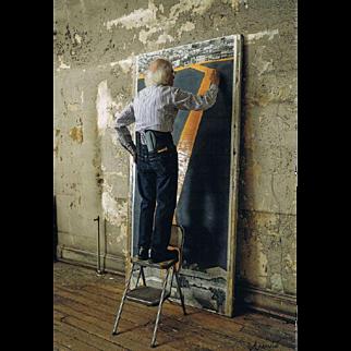 Christo signed Photo Painting CoA