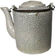 Antique Chinese Craquelée Teapot