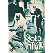 Sean Connery Autograph Gold Finger Movie Program CoA