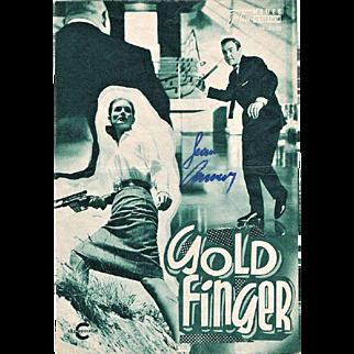 Sean Connery Autograph Gold Finger Movie Program CoA