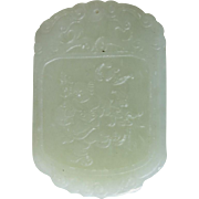 Chinese Jade Pendant with Carvings both Side