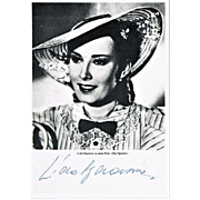 Lida Baarova Autograph on b/w Photo Print CoA