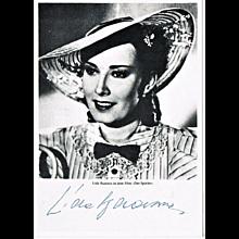 Lida Baarova Autograph on b/w Photo Print CoA