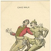 Cake Walk: Vintage Postcard WW1