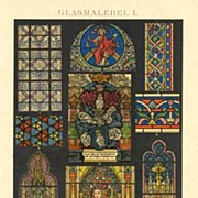 Two Chromo Lithographs: Glass Painting, 1898