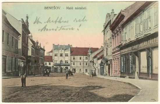 Imperial Austria: Postcard from Benesov, 1912