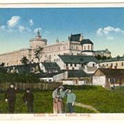 Old Poland, Lublin: Vintage Postcard with Military Censor Strike.