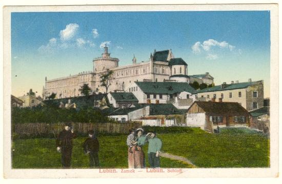 Old Poland, Lublin: Vintage Postcard with Military Censor Strike.
