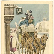 Happy New Year: Vintage Postcard 1911. Austrian Art Nouveau.
