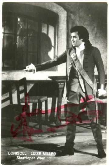 Franco Bonisolli Autograph: Signed Photo. COA