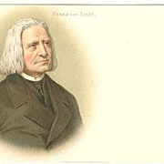 Franz Liszt: Lithographed Postcard from ca. 1905