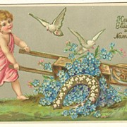 Saint's Day Postcard. Embossed, 1905.