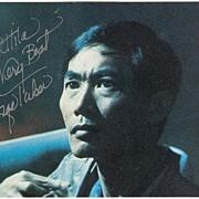 George Takei Autograph: Star Trek Actor. CoA