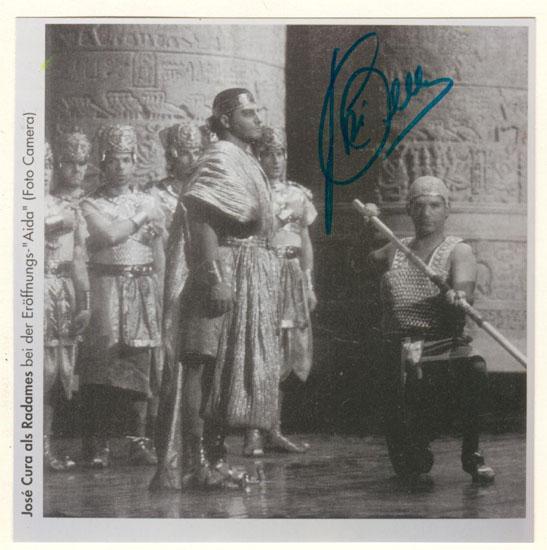 José Cura Autograph. Famous Tenor Signature. CoA