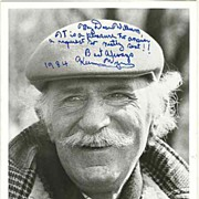 Keenan Wynn Autograph: 1984 Photo with Dedication. CoA