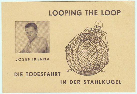 Looping the Loop - Globe of Speed Stunt : Old Advertising Print