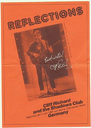 Cliff Richard Autograph on German Flyer. CoA