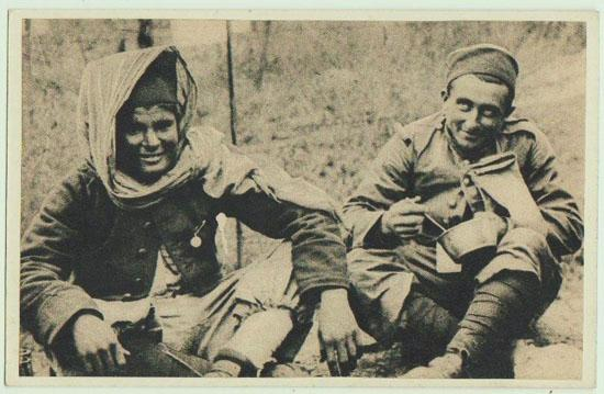W.W.II.: German Soldiers in Morocco. Vintage Postcard