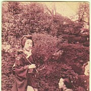 Old Japan: 2 Ladies. Vintage Postcard