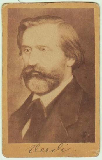 Giuseppe Verdi: Antique Photograph. Authentic CdV