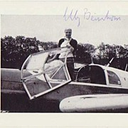 Elly Beinhorn Autograph. Authentic signed Photo of Historic Aviatrix. CoA