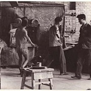China: Authentic Cultural Revolution Photo. Workers at Factory.