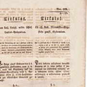 1846: Imperial Austria. Antique Circular related to Bonds